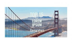 TOP 15 Lorem Ipsum Generators
