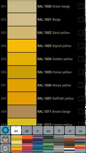 RAL простий каталог кольорів
