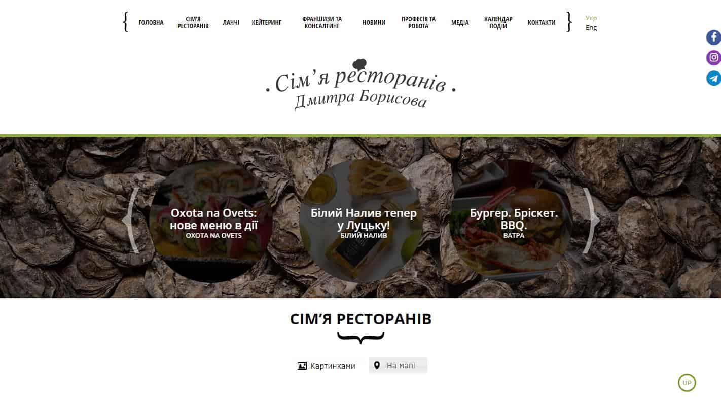 Сім'я ресторанів Дмитра Борисова