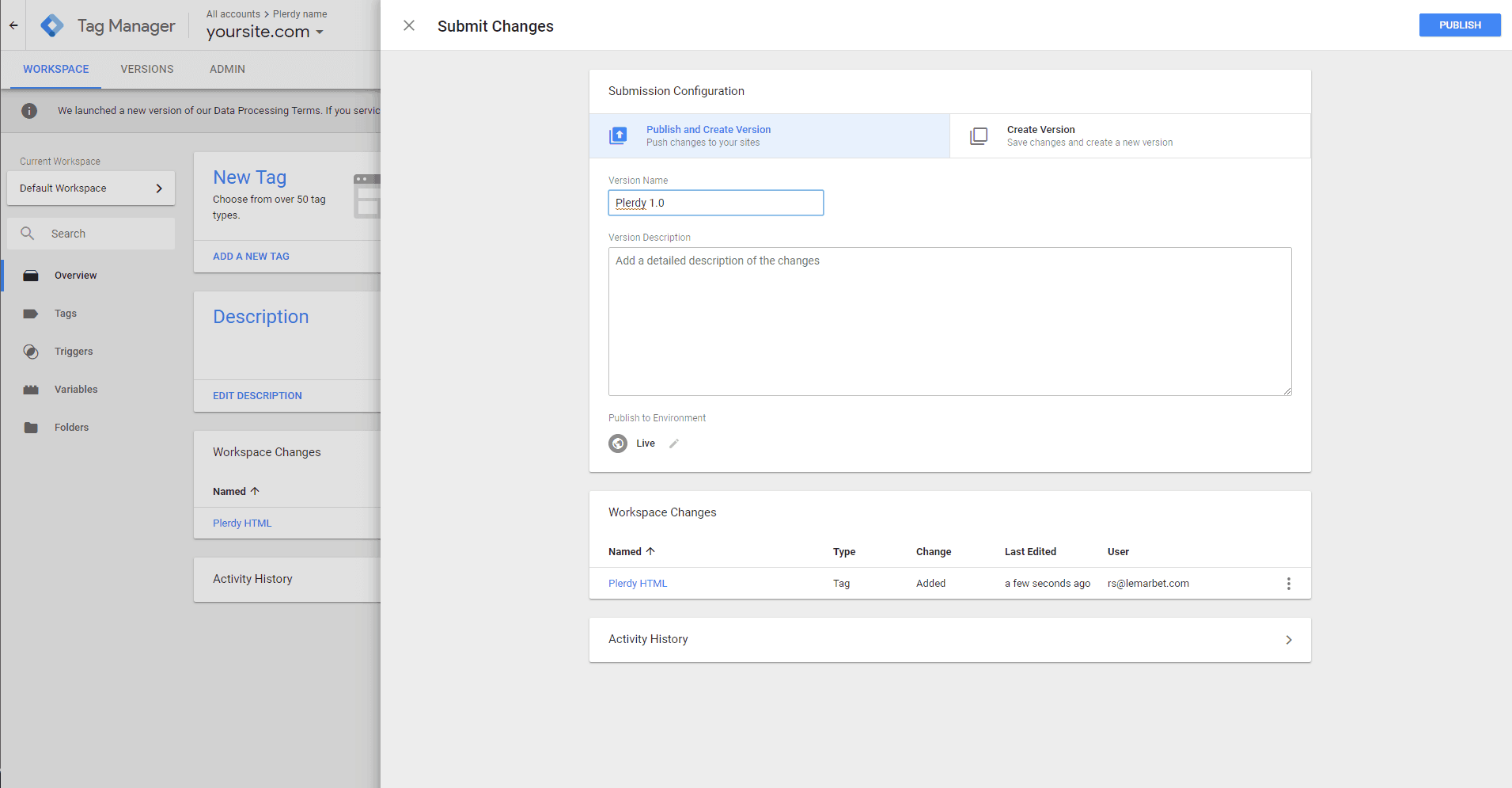 Plerdy with Google Tag Manager-en-18