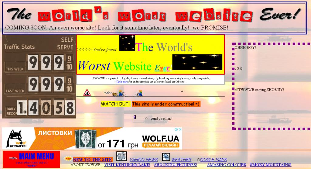 The World's Worst Websitе