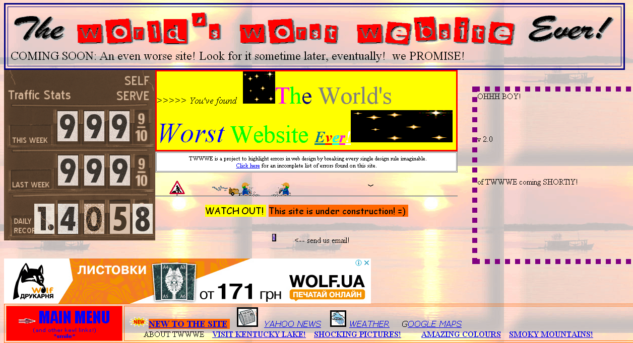 The World's Worst Websitе