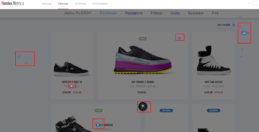 YandexMetrica Как показываются клики когда был изменен дизайн