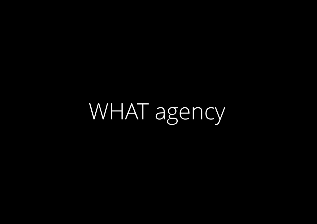 WHAT agency