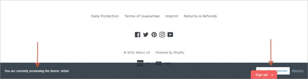 Владелец сайта не воспользовался советом и не исправил ошибку в подвале сайта.