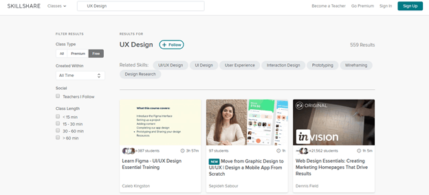 Overview of 50 Best Design Courses — Plerdy