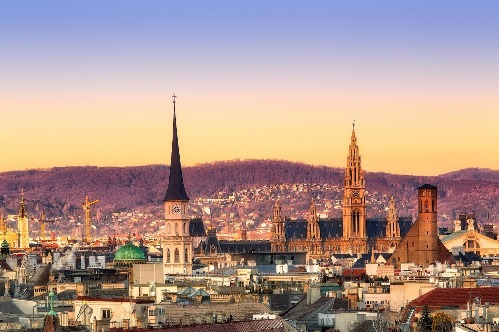 Дневной вид на Вену.