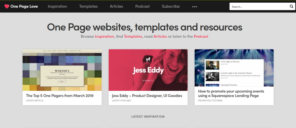 Top 50 best UX and UI web design inspiration websites and