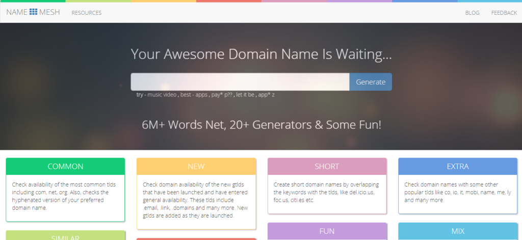 Namemesh.com