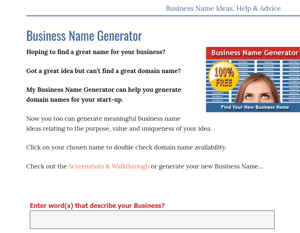 TOP 40 Services to Choose a Business Name 33