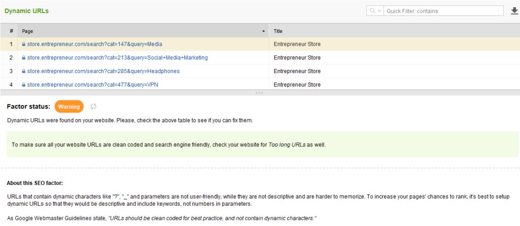 seo analysis entrepreneur website 9