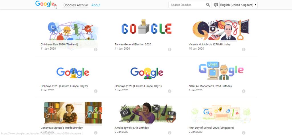 google doodle games 2